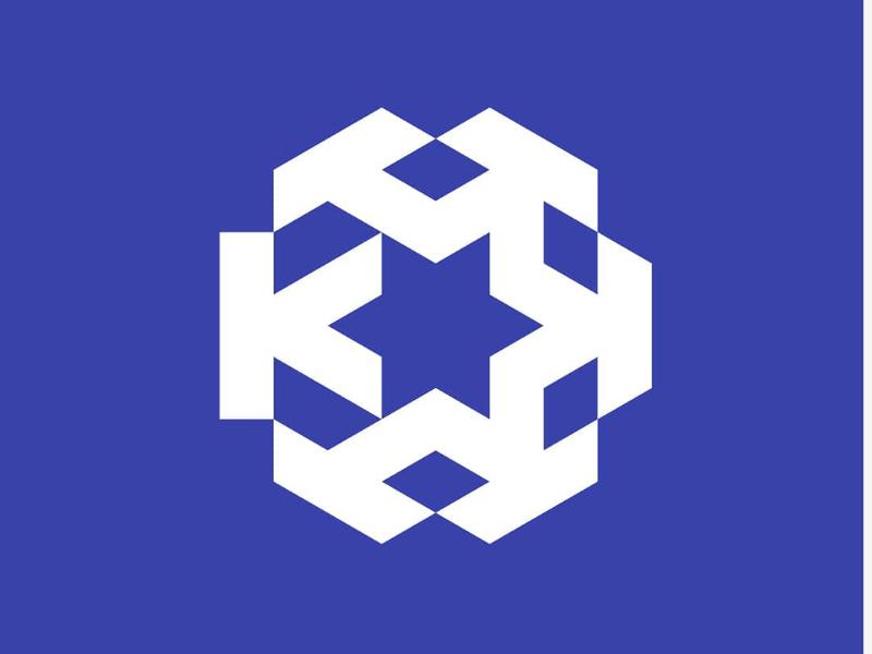 K (krakatausteel) inovative strong bold minimalist modern steel logo branding rebranding redesign logo design logo