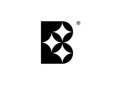 Lettermark B geometric. monogram minimalist modern simple logogram logotype lettermark rebranding branding brand logo design logo