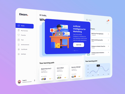 E-learning Application motion design interactive interactivelabs ilabs online course online learning dashboad design character app animation ui