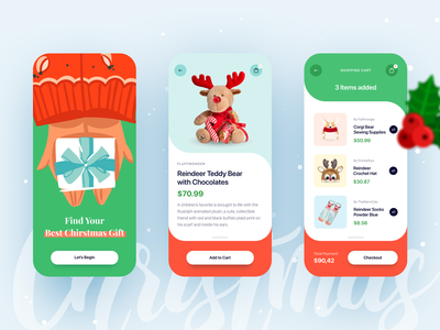 Chirstmas Shopping App ui shop shopping app shopping checkout product design mobile ilabs app