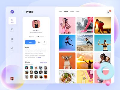 Coaki Social Fitness   Profile mobile webdesign desktop uidesign fitness product design