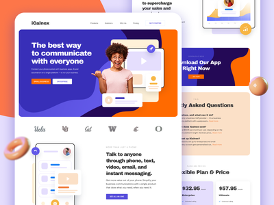 Visual Concept for iCalnex Landing Page website design landing design ui homepage design home page landingpage product design ilabs