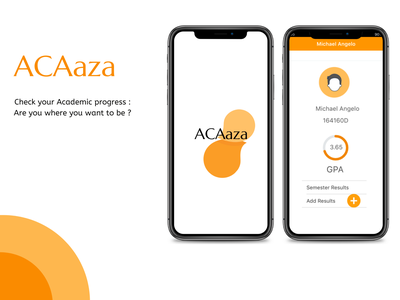 ACAaza Academic mobile app illustration ui design typography logo app colorful ux ui design
