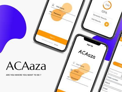 ACAaza Mobile app creative design typography icon ux ui design