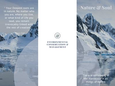 Nature & Soul Poster design typography colorful creative design illustration design