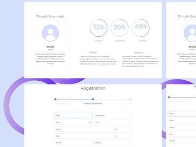 Academic Management Web UI Design#Simple illustration web creative design ux ui design