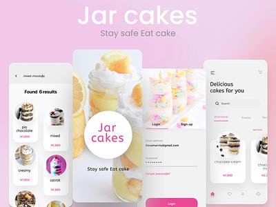 Mobile Design #Jarcake Ordering App app ux ui colorful creative design illustration design
