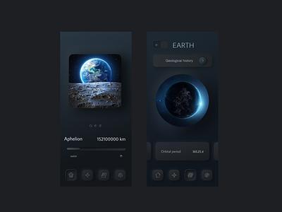 Space Walk #Mobile App Design app colorful creative design illustration design