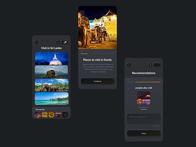 Welcome to Sri Lanka app ux ui typography icon colorful creative design design