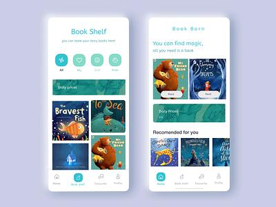 Story Books App Design for Kids ux app ui colorful creative design illustration design