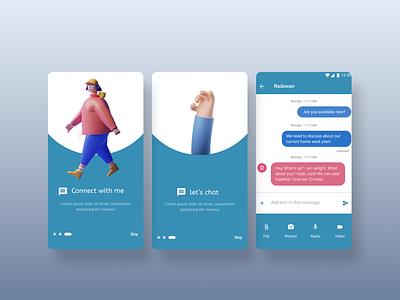 Let's chat #Design ui colorful creative design illustration design