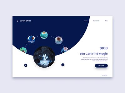 Book Barn#Home_Page_Design ui branding logo app colorful creative design design