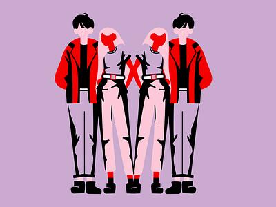 People 👩🏼🤝👨🏻 vector art vectorart vector illustration vector illustrations illustration illustration art art