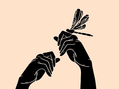 Hands 👐🏼 dragonfly hands artist minimal illustrations illustration art illustration art