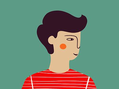 Man 🧑🏻🦱 man boy procreate art procreate flat minimal illustrations illustration art illustration art