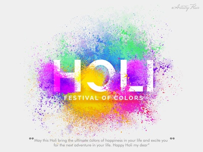 Happy Holi. Festival of colors happiness love indian culural traditional festival colors handrawn colorful character sketch abstract dribble happy vector illustration design