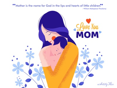 Happy Mothers Day god baby kid child super mom women mothers day mother celebration handrawn colorful character sketch abstract dribble happy vector illustration design