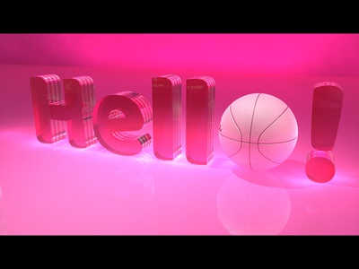 Hello Dribbble! maya 3d thankyou invitation design shot first debut dribble hello