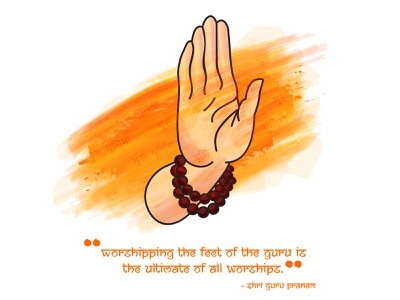 Guru Purnima ashirwad quote text handmade hand fullmoon night purnima guru vector illustration character design