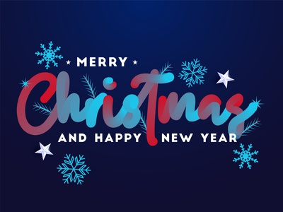 Merry Christmas and happy new year 2020 branches tree pine stars snoflakes 3d designs elegant texture calligraphy typography celebration handrawn sketch abstract dribble happy vector illustration design