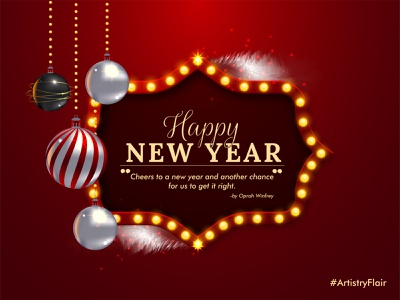 New Year 2020 artistryflair new year elegant balls shiny lighting beautiful 2020 year new celebration animation red colorful abstract dribble happy vector illustration design