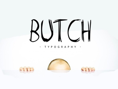 Butch - free marker typeface