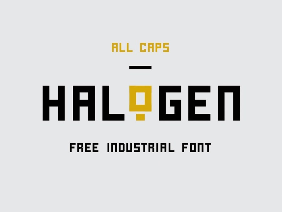 Halogent - Free Industrial Font by Cat Ox on Dribbble