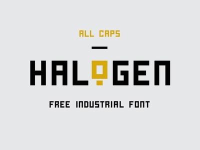 Halogent - Free Industrial Font