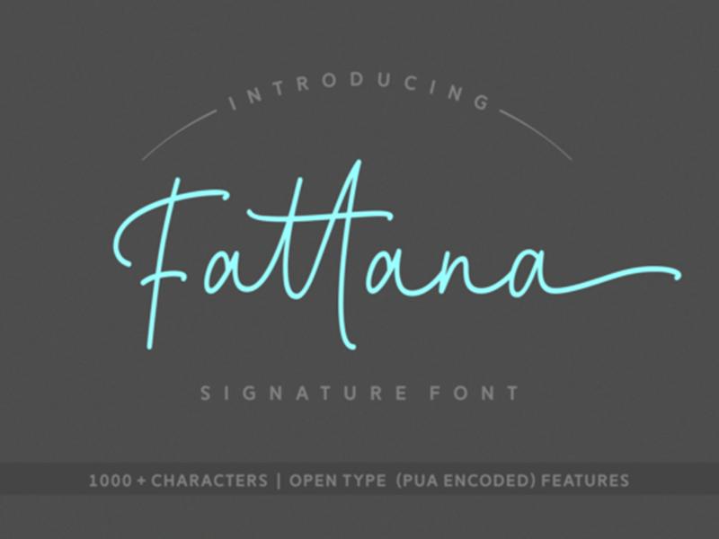 Fattana Free Script Font by Cat Ox on Dribbble
