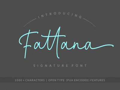 Fattana Free Script Font