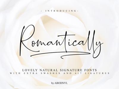 Romantically - Free Script Font