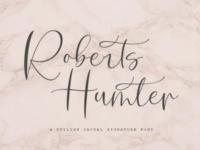 Roberts Humter Free Script Font