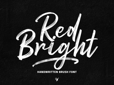 Red Bright Free Brush Font