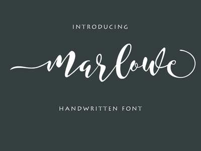 Marlowe Free Script Font