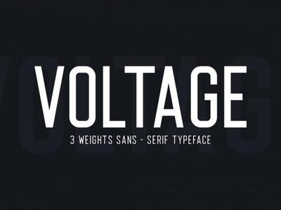Voltage Free Typeface
