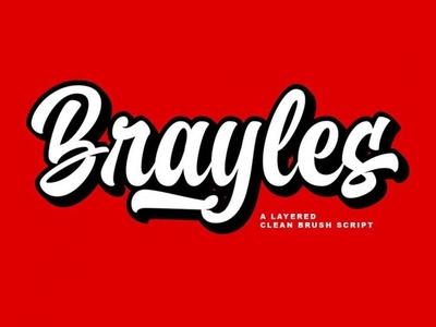 Brayles - Free Bold Script Font