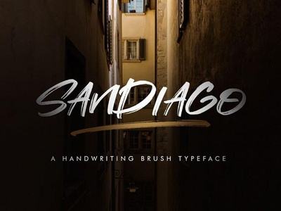 Sandiago Free Brush Font