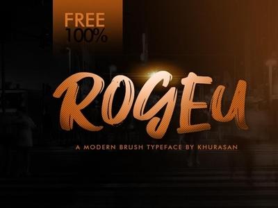 Rogeu Brush - Free Modern Font