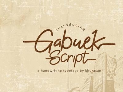Gabuek Script - Free Handwriting Font