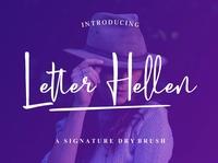 Letter Hellen Free Signature Font