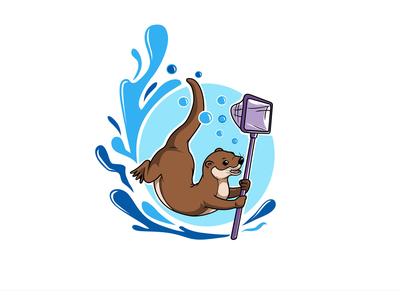 Otter character logo