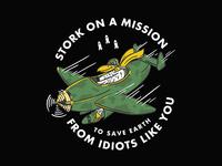 Stork On A Mission