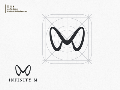 INFINITY M LOGO DESIGN initials logo infinity inspirations redesign initials typography excellent elegant apparel instagram behance dribbble letters lettering branding design awesome initial logo initial
