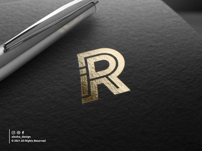 IDR logo design initial letter logo initial logo awesome design branding lettering letters dribbble behance instagram apparel initials logo elegant excellent typography initials redesign inspirations
