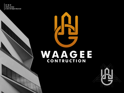 waagee logo design logo inspirations initials typography excellent elegant initials logo apparel instagram behance dribbble letters lettering branding design awesome initial