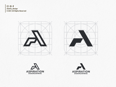 ASPIRATION LOGO lettermark pinterest initial initial logo awesome lettering letters dribbble behance instagram apparel initials logo elegant excellent typography initials redesign inspirations logo