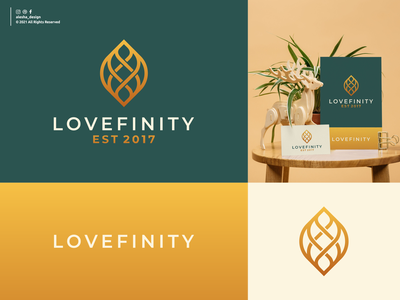 LOVEFINITY LOGO INSPIRATIONS alesha design vector symbol logo inspirations redesign initials typography excellent elegant apparel instagram behance dribbble letters lettering awesome initial pinterest lettermark