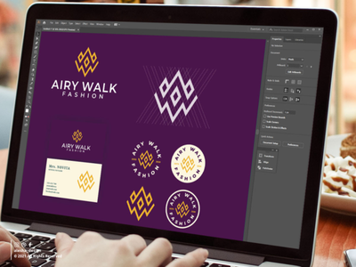 AIRY WALK FASHION LOGO PROCESS lettermark pinterest initial awesome lettering letters dribbble behance instagram apparel elegant excellent typography initials redesign inspirations logo symbol vector alesha design