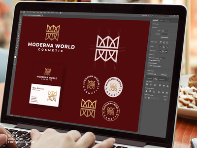 MODERNA WORLD COSMETIC LOGO DESIGN cosmetic lettermark pinterest initial awesome letters dribbble behance instagram apparel elegant excellent typography initials redesign inspirations logo symbol vector alesha design