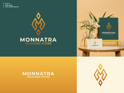 M diamond logo design diamond company logo vector jewelry design icon symbol business sign identity store modern abstract ring luxury diamond store concept graphic alesha design